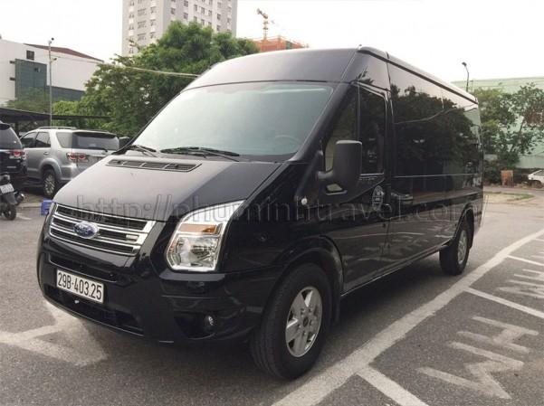 Cho thuê xe 16 chỗ Ford Transit đen