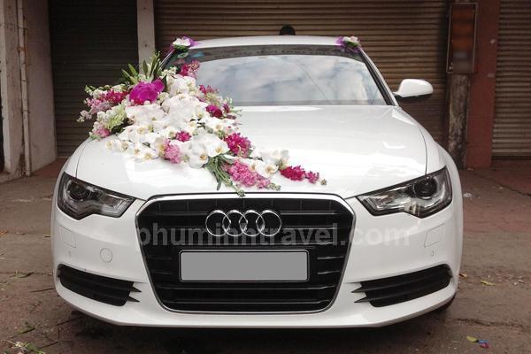 Cho thuê xe cưới Audi trắng 4 chỗ